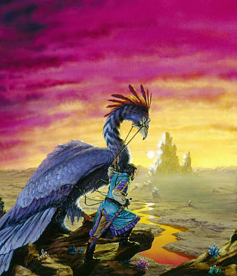 Atlantis Painting - The Crystal Palace by Richard Hescox