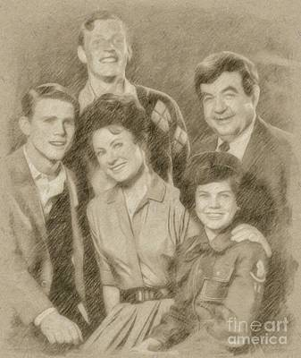 Fantasy Drawings - The Cunninghams, Happy Days by Frank Falcon