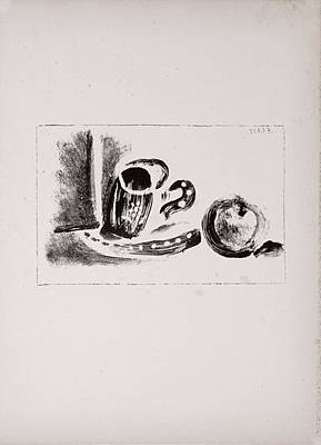 Mourlot Painting - The Cup And The Apple by Pablo Picasso