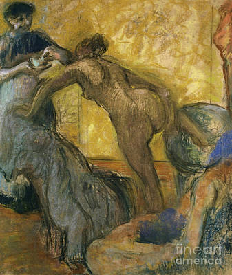 Pastel - The Cup Of Hot Chocolate by Edgar Degas