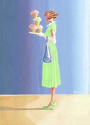 Painting - The Cupcake Lady by Aaron Clark