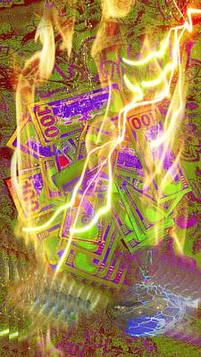 Burning Money Photograph - The Cure For Inflation by J Huber