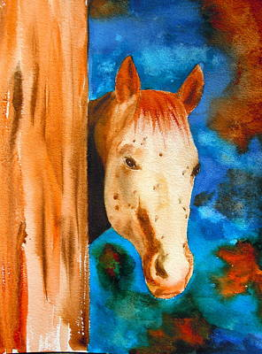 Forelock Painting - The Curious Appaloosa by Sharon Mick