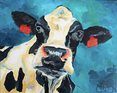 Painting - The Curious Cow by Elisa Bolanos