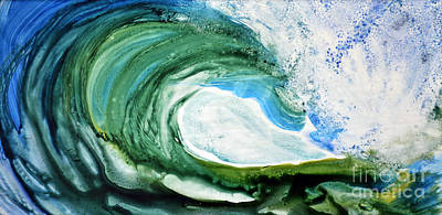 Art Print featuring the painting The Curl by Joan Hartenstein