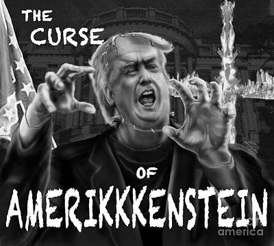 Painting - The Curse Of Amerikkenstein by Reggie Duffie