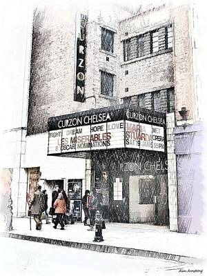 The Curzon Cinema Chelsea London Uk Print by Alan Armstrong