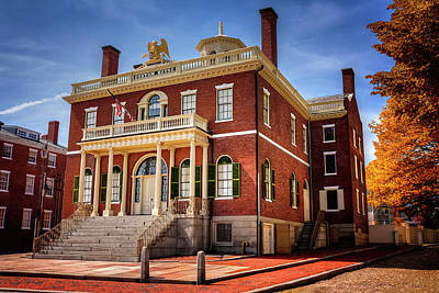 Townscape Photograph - The Custom House Salem Massachusetts  by Carol Japp