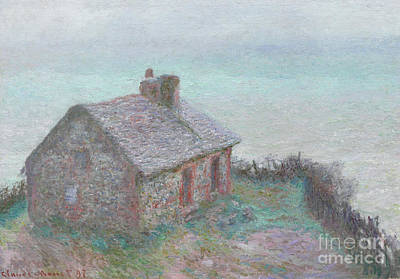 The Customs House At Varengeville Art Print by Claude Monet