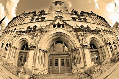 Photograph - The Customs House Nashville Tennessee Sepia by Lisa Wooten