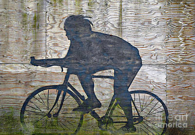 Photograph - The Cyclist by Ethna Gillespie