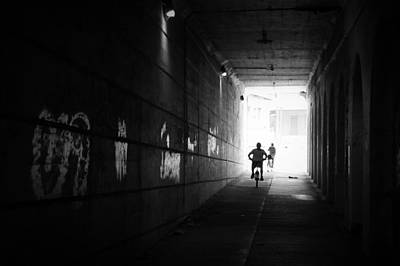 Photograph - The Cyclists Silhouette by Joseph Skompski