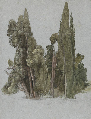 Painting - The Cypresses At The Villa D'este, Tivoli by Samuel Palmer