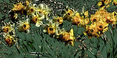 Digital Art - The Daffs by David Patterson