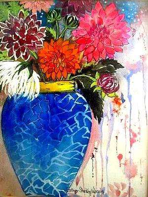 Painting - The  Dahlias by Esther Woods