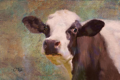 Cow Mixed Media - The Dairy Queen by Colleen Taylor
