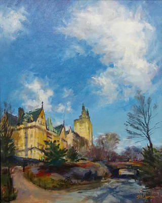 The Dakota And San Remo Towers From Central Park West Art Print by Peter Salwen