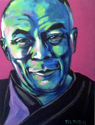 The Dalai Lama Painting - The Dalai Lama by Stuart Glazer