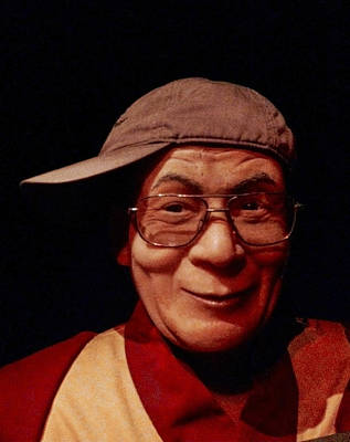 The Dali Lama Wearing My Hat Print by Bill Cannon