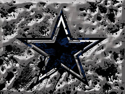 Fort Worth Mixed Media - The Dallas Cowboys 1a by Brian Reaves