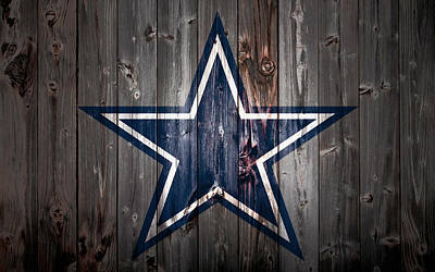 The Dallas Cowboys 2b Art Print by Brian Reaves