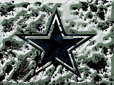 Patriot Mixed Media - The Dallas Cowboys  by Brian Reaves