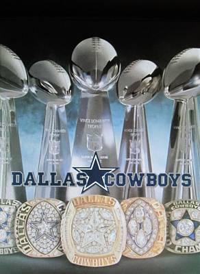 The Dallas Cowboys Championship Hardware Art Print by Donna Wilson