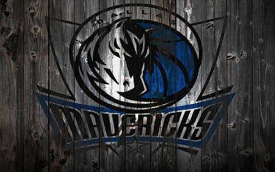 Mixed Media - The Dallas Mavericks 2w       by Brian Reaves