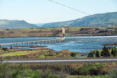 Photograph - The Dalles Bridge by Tom Cochran