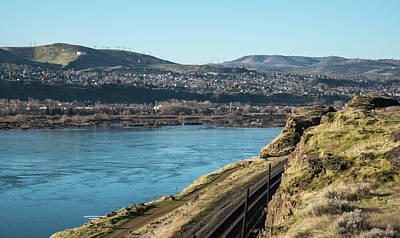 Photograph - The Dalles The River And Bnsf by Tom Cochran