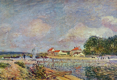 Alfred Sisley Painting - The Dam by Alfred Sisley