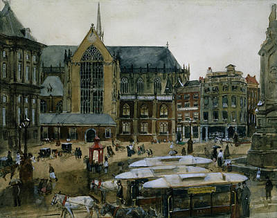 The Dam In Amsterdam Art Print by George Hendrik Breitner