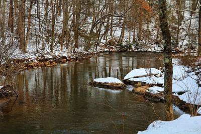 Photograph - The Dan River In Winter 1 by Kathryn Meyer