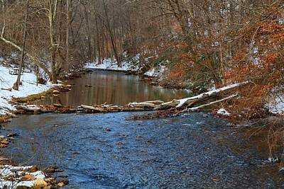 Photograph - The Dan River In Winter 2 by Kathryn Meyer