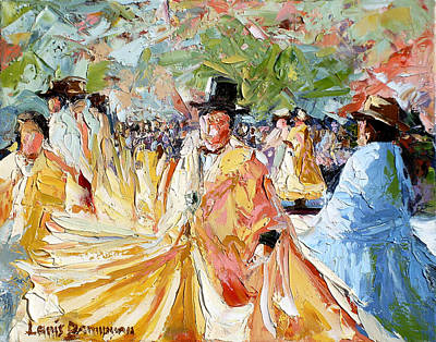 Painting - The Dance At La Paz by Lewis Bowman