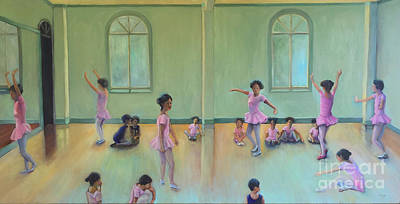 Painting - The  Dance Class Upper Half by Marlene Book