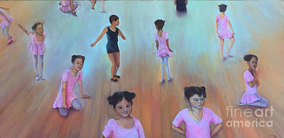 Painting - The Dance Class Bottom Half by Marlene Book