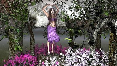 Fae Art Mixed Media - The Dance by Eva Thomas