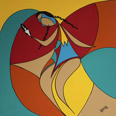 Native Painting - The Dance by Krystle Retieffe