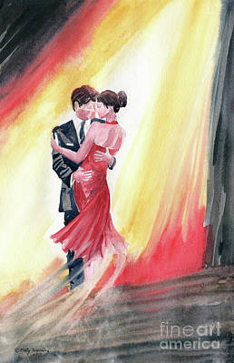 Under The Moon Wall Art - Painting - The Dance by Melly Terpening