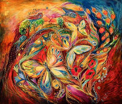 Kabbala Painting - The Dance Of Butterflies by Elena Kotliarker
