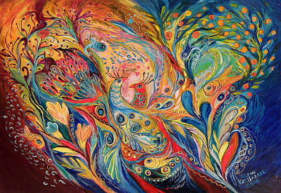 The Dance Of Oranges Art Print by Elena Kotliarker