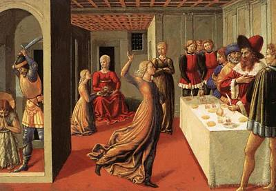 Painting - The Dance Of Salome 1462 by Gozzoli Benozzo