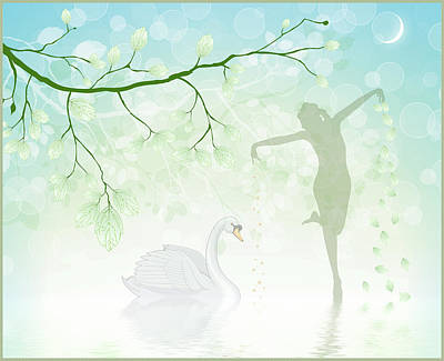 The Dance Of The Swan Art Print