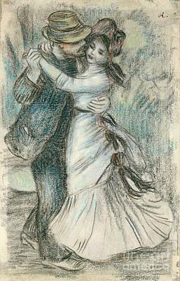 Pastel Drawing - The Dance by Pierre Auguste Renoir