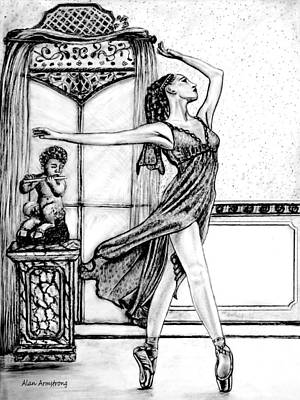 Passionate Drawing - The Dance Studio by Alan Armstrong