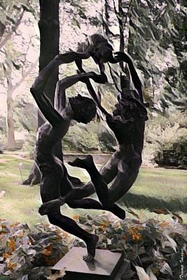 Digital Art - The Dance by Wesley Nesbitt