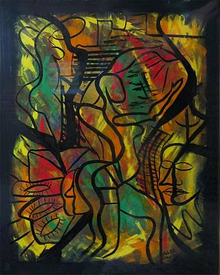 Colourfull Painting - The Dancer by Alfonso Robustelli