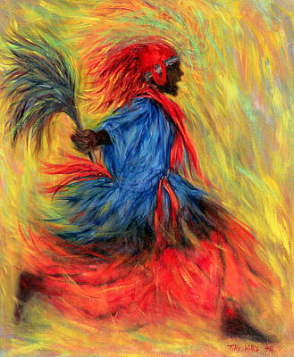 Contemporary Black Art Painting - The Dancer by Tilly Willis