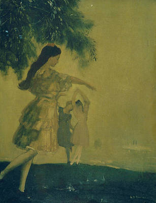 Dancing Girl Painting - The Dancers by Arthur Bowen Davies